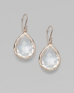 From the Ippolita Rosé Collection. Faceted clear quartz teardrops set in sterling silver and 18K gold, finished in the warm glow of 18k rose goldplating.Clear quartz An alloy of 18K gold and sterling silver plated with 18K rose gold Length, about ¾ Width, about ½ Earwires Imported