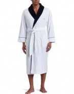 Nautica Mens French Terry Shawl Collar Robe