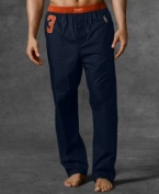An essential cotton pajama pant is rendered in soft woven cotton for a light, comfortable fit.