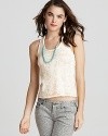Free People Top - Toosaloosa Floral Lace Tank