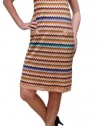Missoni Peach Green Zig Zag Knit Dress. M