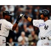 Steiner Sports MLB New York Yankees Derek Jeter/ Bernie Williams Dual Signed Home Jersey Fist Pound Horizontal 16x20 Photograph
