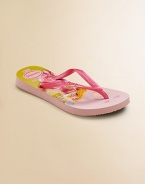 Everyone's favorite flip flops, now for your little one, gets an update with a fantastical Disney princess print and thin straps for added comfort and style.Slip-on stylePVC upperRubber soleMade in Brazil