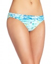 Lilly Pulitzer Women's Surfs Up Bikini Bottom, Resort White High Tide, X-Small