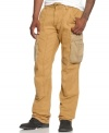 These stylish Rocawear cargo pants have plenty of pockets to carry your gear.