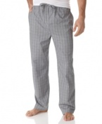 Dress your Sunday lounge-around best with these pajama pants from Alfani.