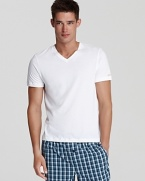 Ideal for warmer nights and when you're traveling, this handsome loungewear tee makes a great choice.