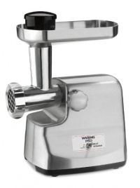 Waring MG855 Professional Die-Cast Metal Housing Meat Grinder, Brushed Stainless Steel