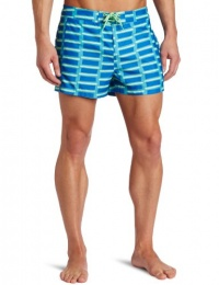 Original Penguin Men's Printed Pieced Box Swim Trunk