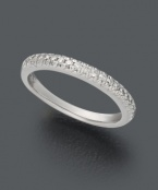 Seamless sparkle. X3's thin wedding band highlights round-cut diamonds (1/2 ct. t.w.) set in 18k white gold.