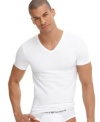 If you're looking for maximum comfort, turn to this form-fitting v-neck for an undershirt that maintains its original features after several washes.