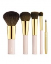The right brushes make makeup easy. This essential set of luxurious brushes complements AERIN's effortless beauty collection. It's everything you need for the look you want. The set includes: Foundation, bronzer, highlighter, concealer and lip brushes, all held in a signature AERIN bag. Imported.