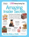 Amazing Insider Secrets: 1703 Money Saving Tips