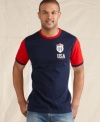 Show your colors. Get fired up to root for Team USA in the big game in this crest t-shirt from Tommy Hilfiger.