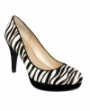 Pair the exotic pattern of Marc Fisher's Sydneylee platform pumps with solids and watch this funky print really pop.
