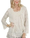 Bacci Womens Willow Embroidered Full Sleeved Lace Tunic