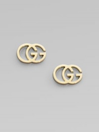 The famous interlocking double G, crafted into stunning studs of 18k yellow gold.18k yellow gold Width, about ½ Post back Made in Italy