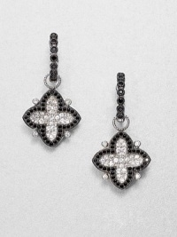 From the Soho Collection. This pretty clover-shape design features white sapphires and black spinels set in sterling silver. White sapphiresBlack spinelsSterling silverSize, about .9Ring baleImported Please note: Earrings sold separately.