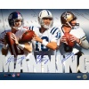 NFL New York Giants Archie, Eli & Peyton Manning Triple Signed Collage 16x20 Photograph
