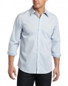 Calvin Klein Sportswear Men's Solid Stretch Free Fit Woven Shirt