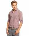 Gain some casual confidence with this check pattern shirt from Hugo Boss.