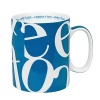 For those with a font of knowledge, the letters c-o-f-f-e-e dance energetically around the Script Collage mug in a variety of bright and vibrant colors.
