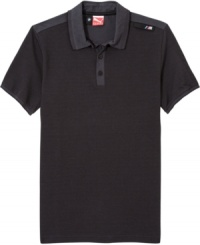Take a sleek, casual look for a drive with this sporty BMW M series polo shirt from Puma.