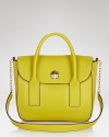 Fall head over heels for the bold hue and structured shape of this satchel from kate spade new york. Crafted in supple leather with perfect daytime proportions, it's the bag we want bright now.