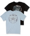 Wear your crest proudly with this cool graphic tee from Guess.