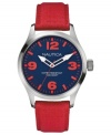 Take your outdoor look to a brighter level with this colorful sport watch from Nautica.