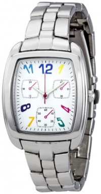 FMD White Multicolored Faux Chronograph Dial Ladies Watch ZRT8000K