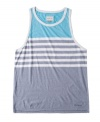 Exercise your right to bear arms in this sleeveless striped tank from O'Neill.