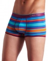 Calvin Klein Men's One Microfiber Low Rise Trunk Fashion, Bold Stripe - Zelda, Large