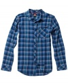 You don't need to know jack about lumber to get down with this look. Cozy flannel and a flattering fit give this Quicksilver button down its casual contemporary style.