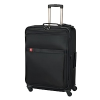 Comfort grip, one-touch dual-trolley aluminum handle system locks into two different positions, 41 & 39, to accommodate travelers of various heights. Spacious main packing area expands 2.5 for additional packing capacity and features lockable zippers sliders. Removable zippered tri-fold suiter holds several garments and reduces wrinkling. Interior features a zippered lid pocket, hanging pocket for additional organization and compression straps to secure folded items. Removable Attach-a-Bag strap secures an additional bag to the front of the upright for consolidated travel.