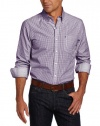 IZOD Men's Slim Fit Long Sleeve Mini Check Button Down Shirt