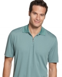 A standard gets even sportier -- this zip-collar polo shirt from Via Europa is an updated classic. (Clearance)