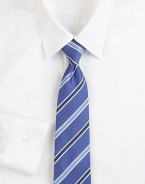 Tonal stripes sharpen a classic tie woven in Italy from silk. About 3 wideSilkDry cleanMade in Italy