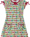 Zutano Girls 2-6X Zutano Owls Picnic Dress,Aqua,4T