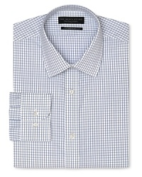 Your go-to look for everyday style, a handsome check dress shirt with a slimmer, contemporary fit, featuring a comfy spread collar and traditional barrel cuff.