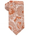 Paisley print on this silk Perry Ellis tie perks up the office any day of the week.