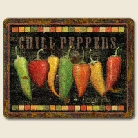 Red Hot Chili Pepper Southwestern Cutting Board Kitchen Cantina Folk Art Art NEW