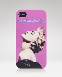 Channel your inner Material Girl with this a Audiology iPhone case, which hits the right notes with its pop star portrait.