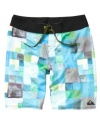 With a shore-inspired pattern, these board shorts from Quiksilver are ready to hit the sand and surf.