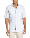 Cubavera Men's Short Sleeve Striped Guayabera Woven Shirt