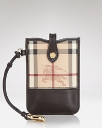 Invest in Burberry's signature style with this phone cover, ideal for keeping your technology in check.