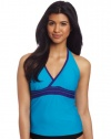 Speedo Women's Active Piped Halterkini Swim Top