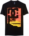 With a vivid color palette, this t-shirt from DC Shoes is always blazin'.