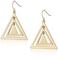 BCBGeneration Gold tone Triangle Drop Earrings