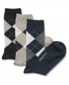 Change up your everyday pattern with these sharp argyle dress socks from Club Room.
